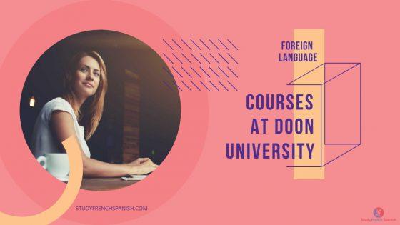 Doon university foreign language course