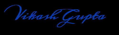 Vikash Gupta Signature